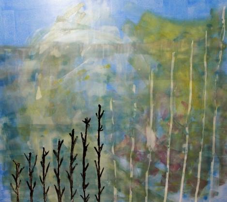Mundos Avanzados. Acrílico sobre cartón pluma. 120x100. 2011