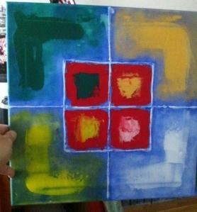 Nunca faltas. Acrílico sobre lienzo.40x40. 2012