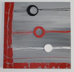 Sopla Viento. Acrílico y corteza sobre lienzo. 60X60. 2013