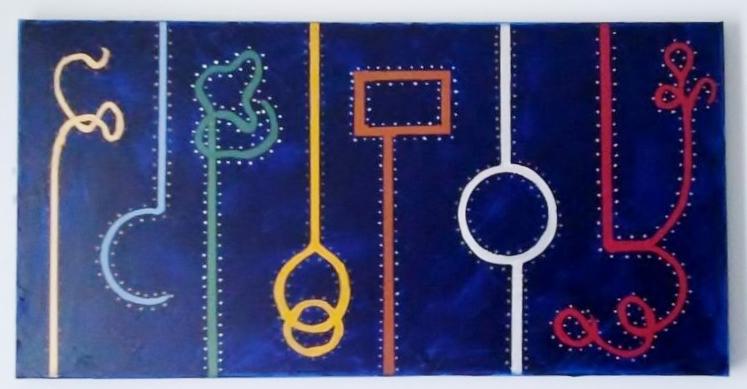 Soluciones. Acrílico sobre lienzo 110x60. 2009