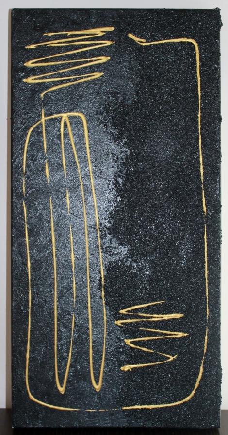 Existencia. Técnica mixta sobre lienzo. 70x30. 2008