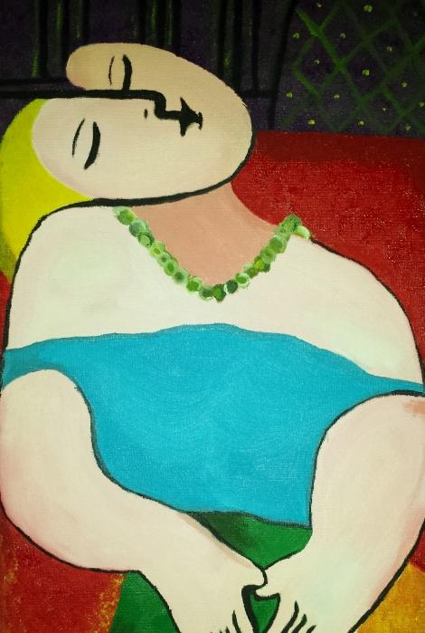 El sueño eterno. Óleo sobre lienzo. 30x20. 2007