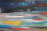 luces de la calle. Óleo y acrílico sobre lienzo. 100x80cm. 2013
