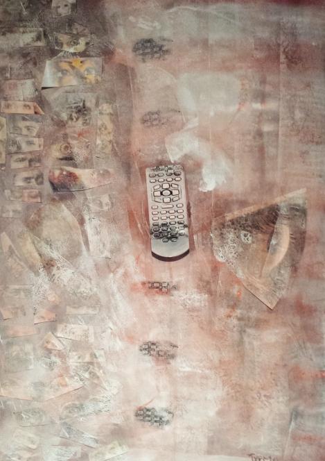 Pulsos. Acrílico sobre lienzo. 70x40cms. 2014